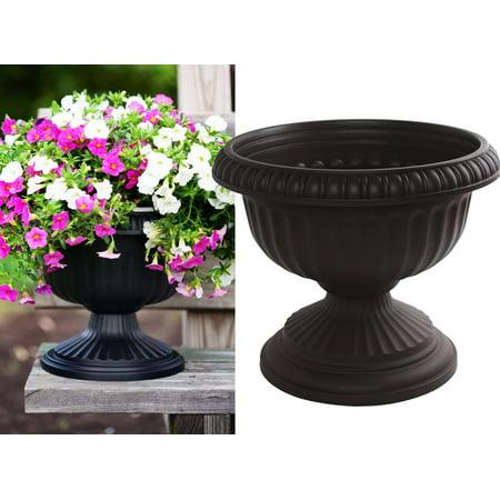 Black Beauty Urn - Bloem Grecian Urn Planter 12