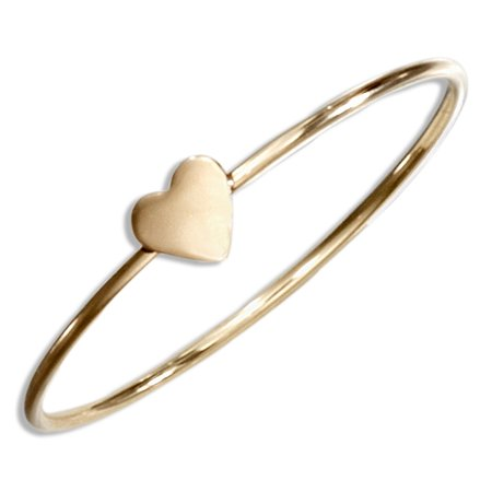12 KARAT GOLD FILLED WIRE RING WITH HEART - Wire Rings