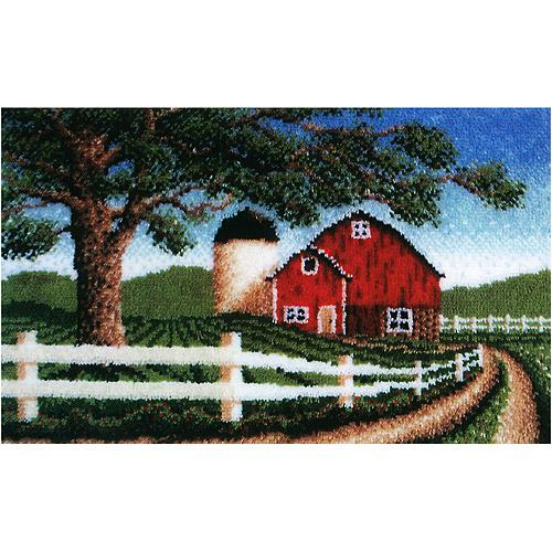 Caron Wonderart Latch Hook Kit, Country Barn