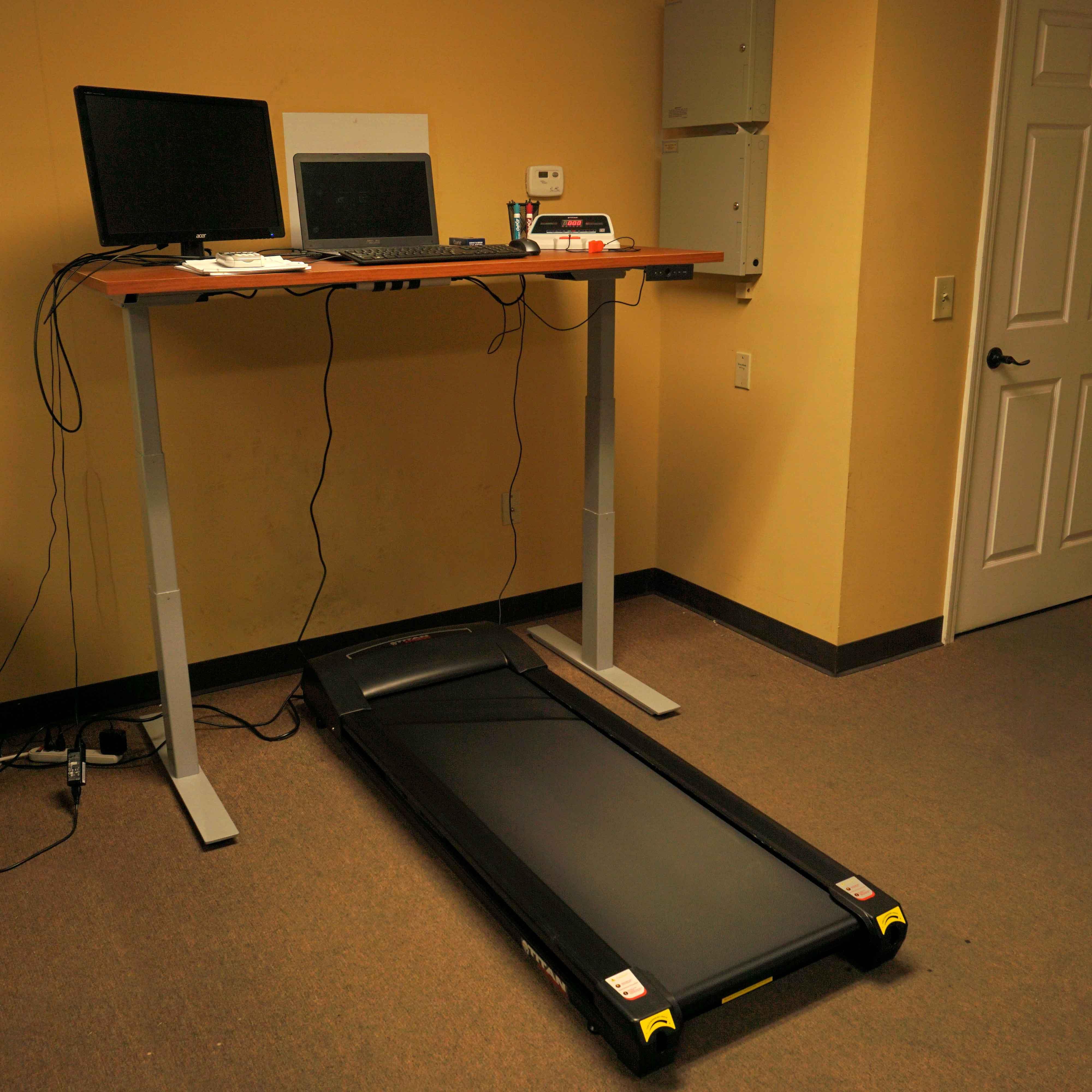 exercise product the elliptical equipment schlemmer office machine desk hammacher