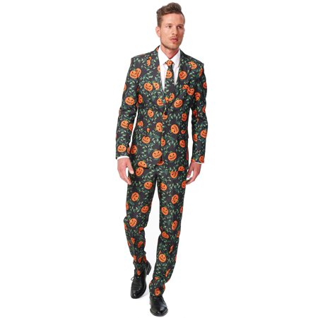 Suitmeister Men's Pumpkin Leaves Halloween Suit