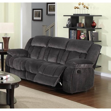 Reclining Sofa In Charcoal Blue And Gray Walmart Com