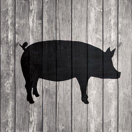 Red Barn Pig (Barn Pig Poster Print by Tandi Venter )