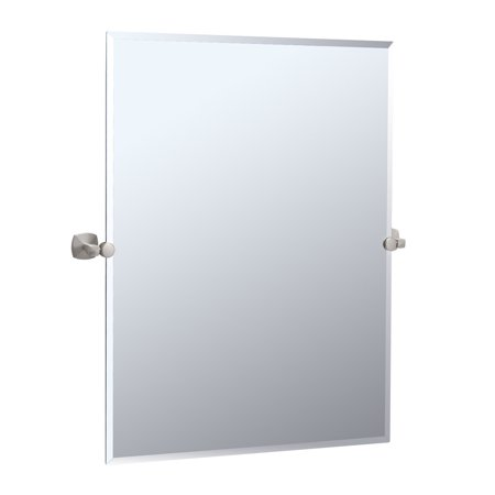 "Gatco 4159S Jewel 23-1/2""W X 31-1/2""H Rectangular Frameless Wall Mounted Mirror with Tilting Feature"