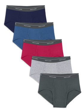 Fruit of the Loom Men's Dual Defense Assorted Fashion Brief, 5 Pack, Extended Sizes