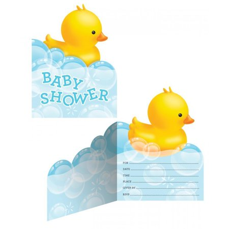 Creative Converting Rubber Duck Bubble Bath Invitations, 8 ct](Rubber Duck Invitations)