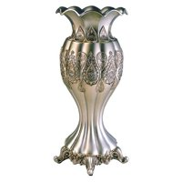 Traditional Royal Silver & Gold Metallic Decorative Vase - 15.75H in