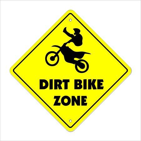 Dirt Bike Crossing Decal Zone Xing | Indoor/Outdoor | 8