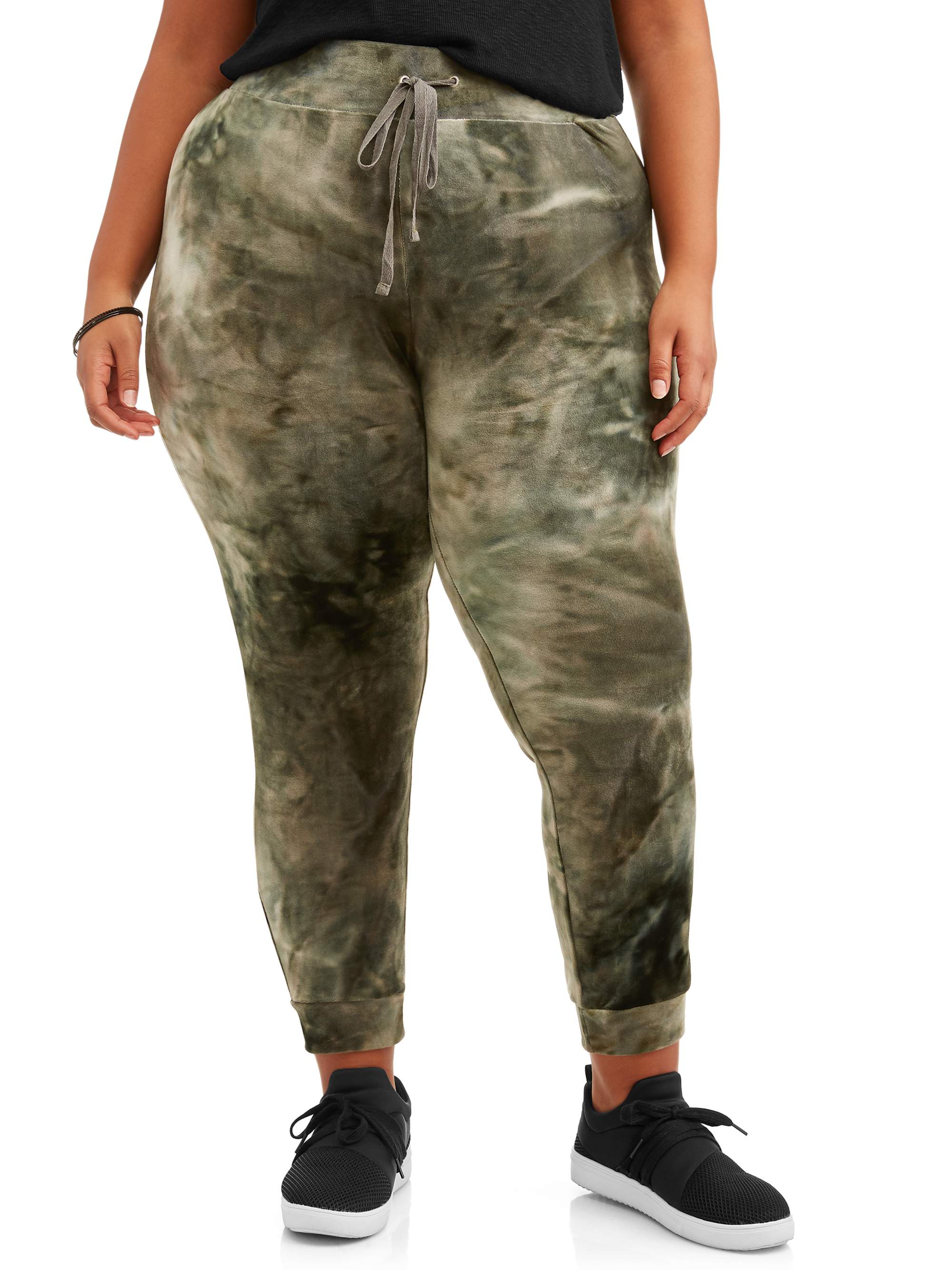 Juniors' Plus Size Super Soft Joggers with Ribbed Waistband