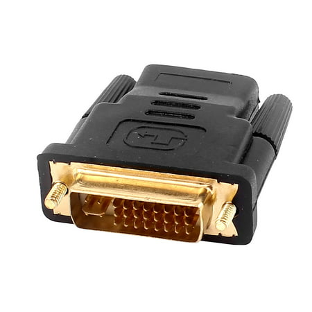 - DVI-I Dual Link 24+5 Male to HDMI Female Connector Adapter