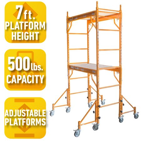 Pro-Series 7 Ft. Rolling Interior Mini Scaffold (Scaffold Bracket)
