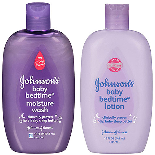 Johnson & Johnson Bedtime Lotion and Moisture Baby Wash Bundle