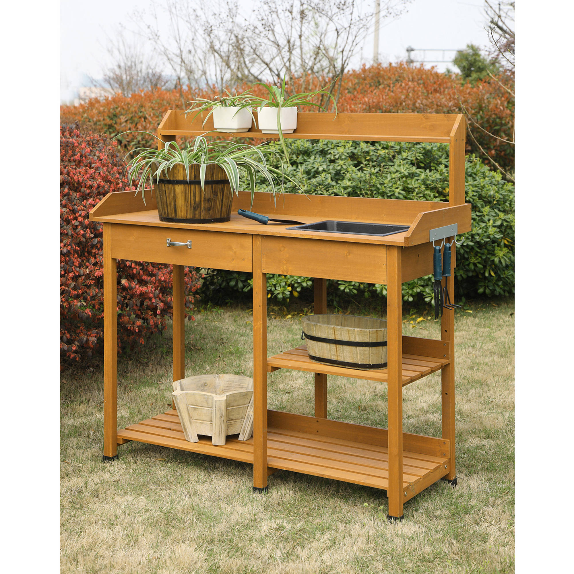 Outdoor Potting Bench With Storage Best Storage Design 2017