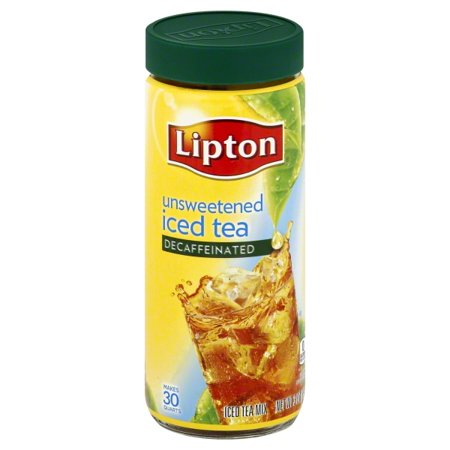 (6 Pack) Lipton Iced Tea Mix Decaffeinated Unsweetened 30 qt - Lipton Decaffeinated Tea