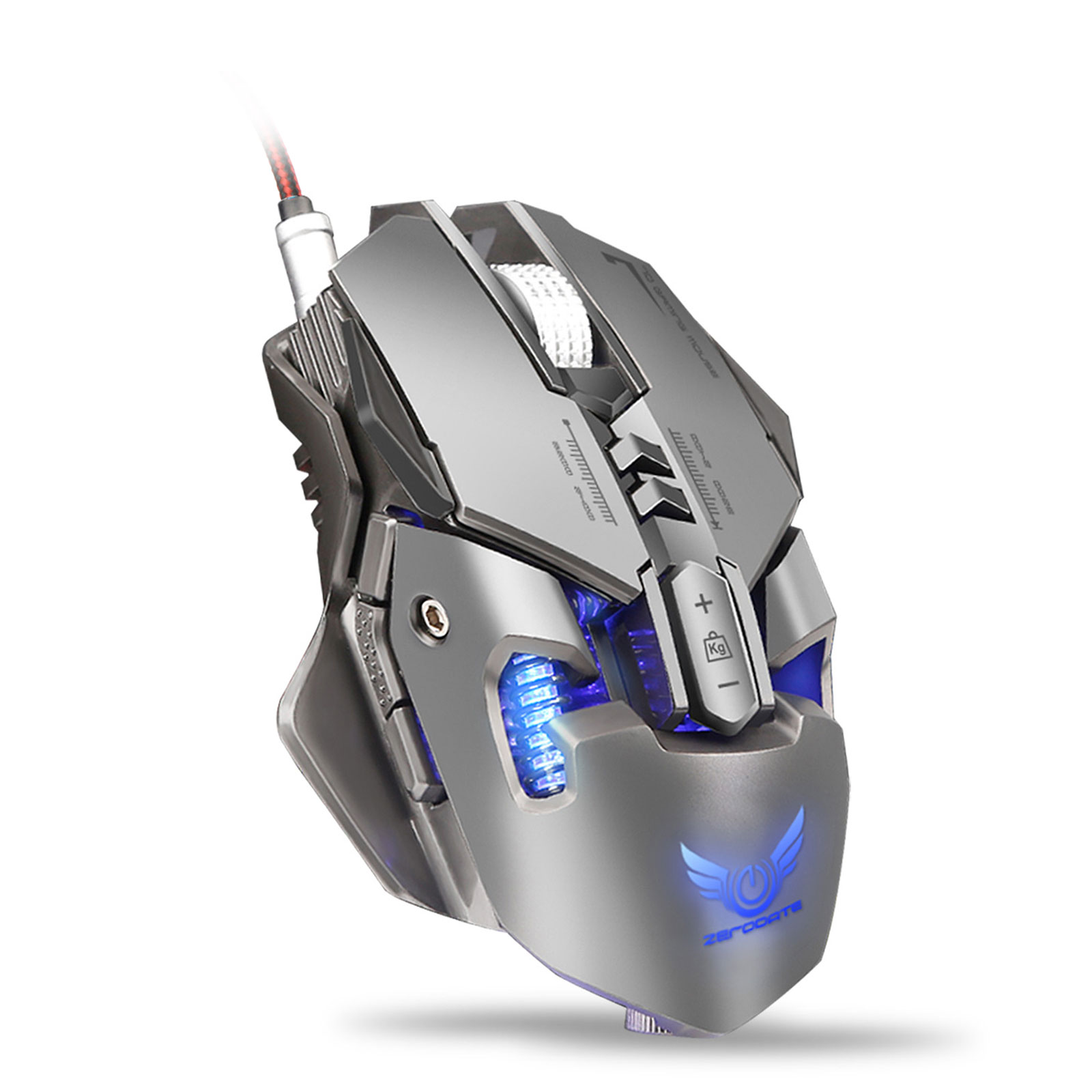 TSV X300 RGB Mechanical Gaming Mouse with LED Lighting Wired USB Gaming Mice 7 Buttons 4000 DPI Optical Gaming Sensor