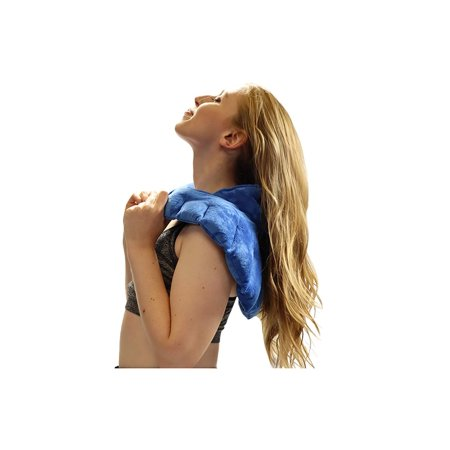 IGIA Slate Blue color Heated Microwaveable Neck and Shoulder Wrap Herbal Hot/Cold Deep Penetrating Herbal Aromatherapy