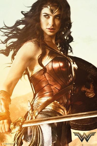 "Wonder Woman Movie Poster   Print (Sword) (Size: 24"" x 36"") by"