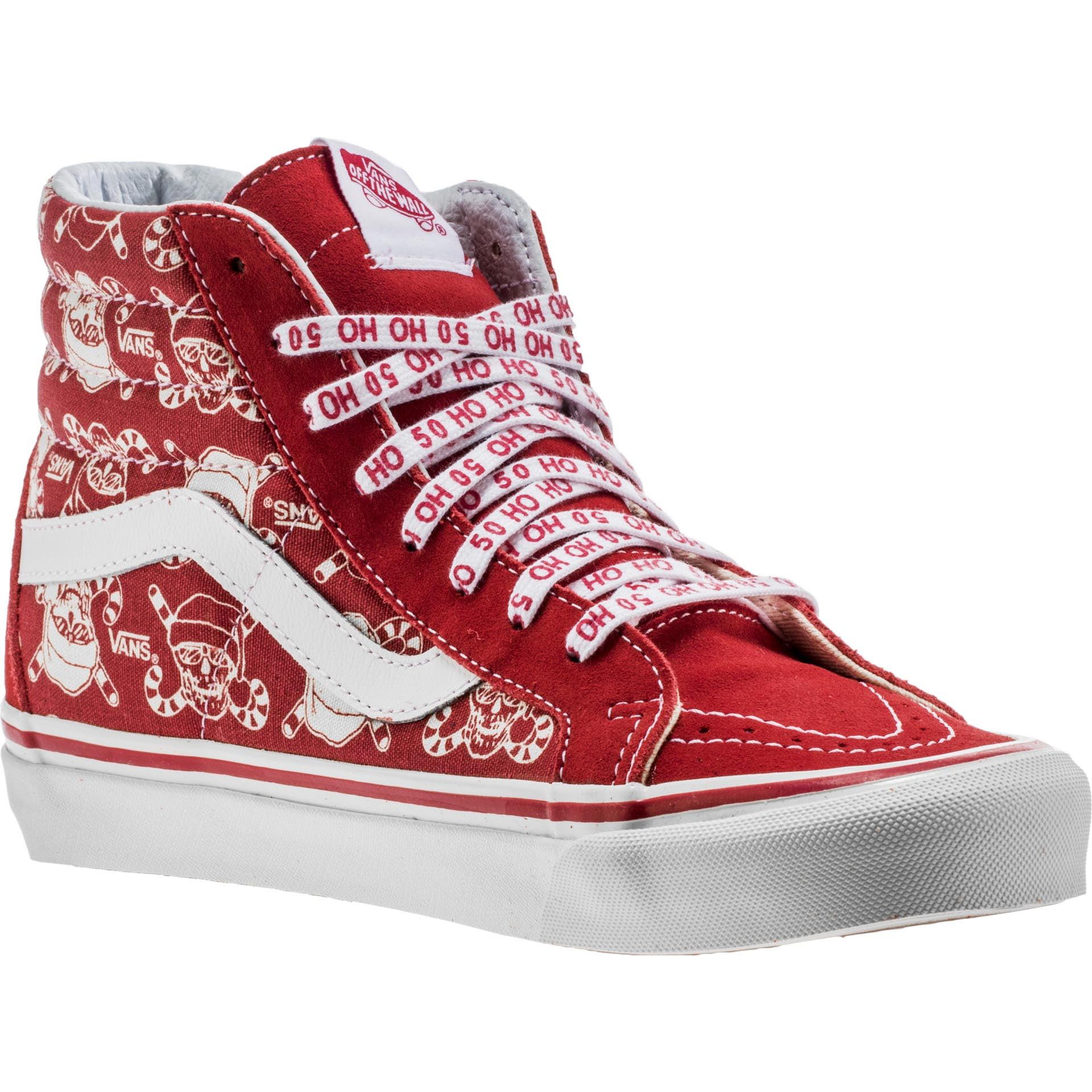 ba8c1c1776 Vans - Vans SK8 Hi 38 Reissue 50th Stv Pirate Santa Red Men s Skate Shoes  Size 13 - Walmart.com