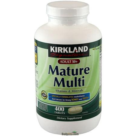 Kirkland Signature Adults 50  Mature Multi  400 Tablets