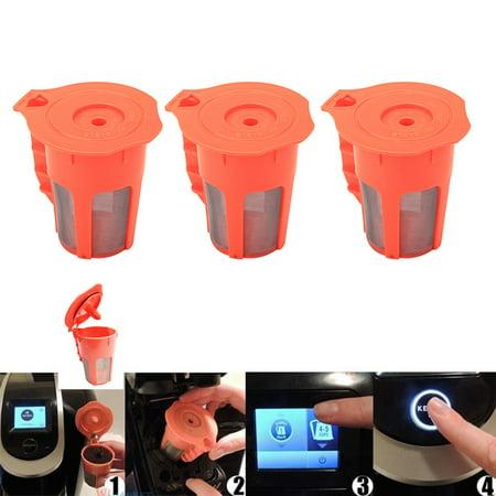 3pcs Refillable Reusable K Carafe Filter Reusable K