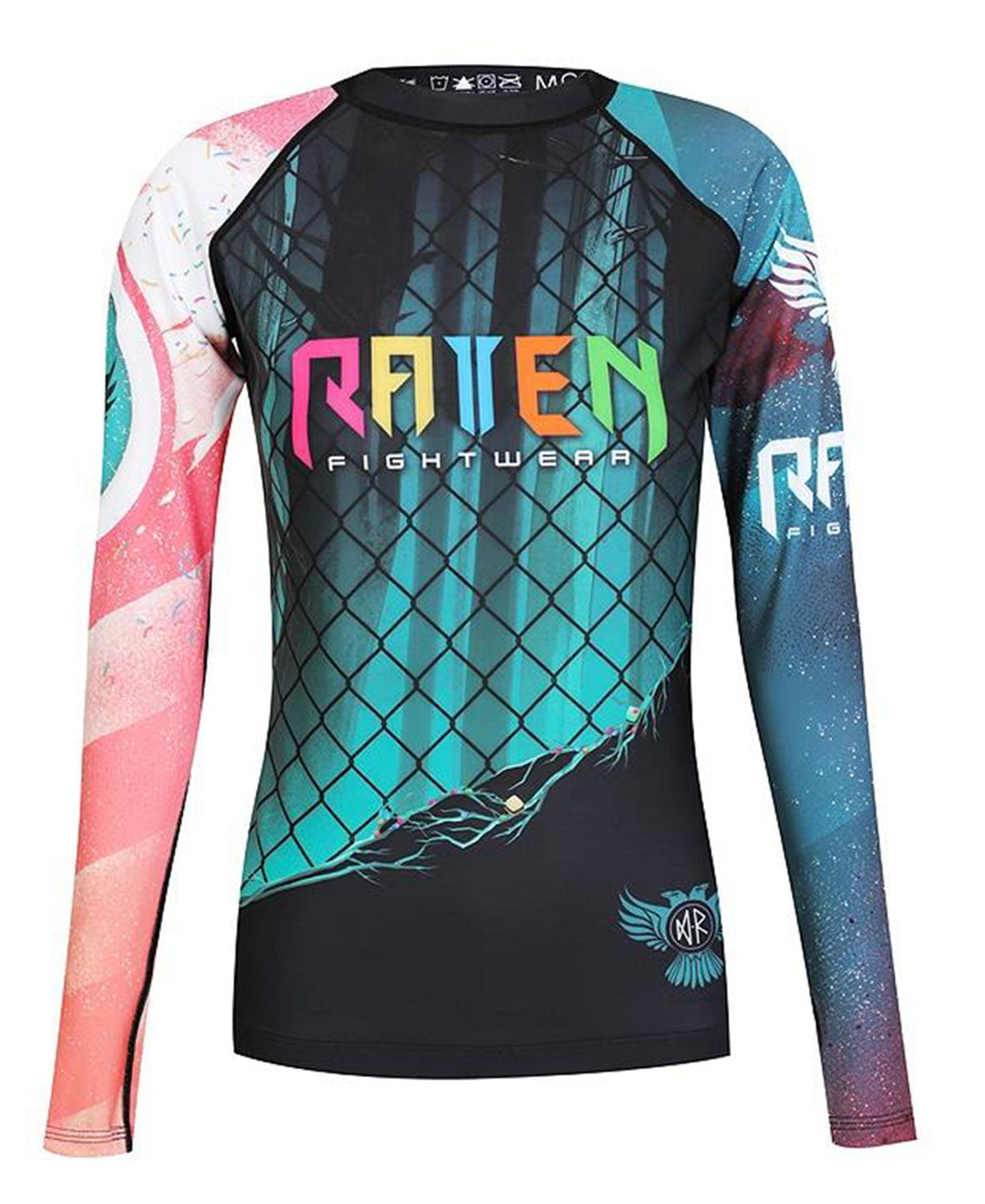 Raven Fightwear Women's The Candy Rash Guard MMA BJJ Black 2X-Small by Raven Fightwear