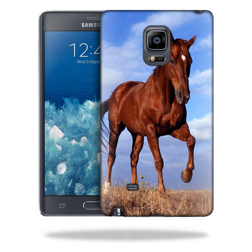 MightySkins Snap-On Protective Hard Case Cover for Samsung Galaxy Note Edge Case Horse
