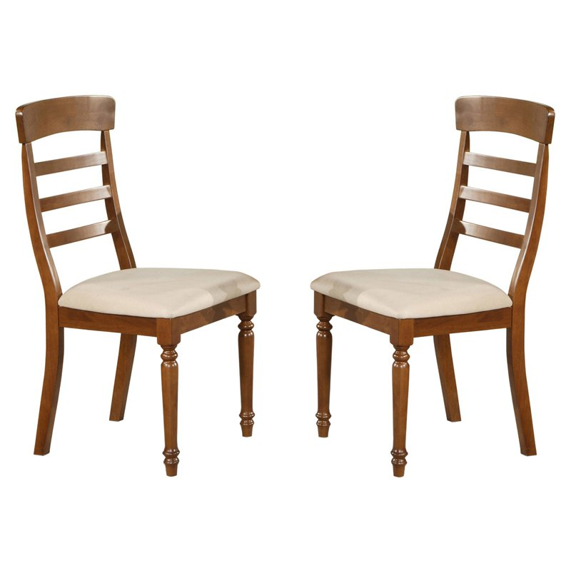 East West Furniture Vintage Dining Chair with Microfiber Seat - Set of 2