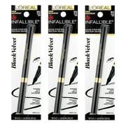 L'Oreal Infallible Bold Liquid Eyeliner Black Velvet #903 Black (Pack of 3)