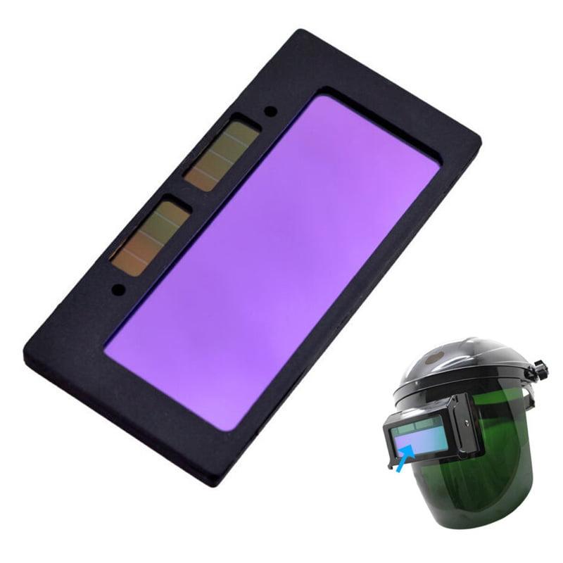 "Solar-Powered Auto Darkening Welding Lens 2PCS Horizontal 2 X 4"""