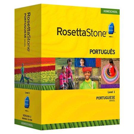 Rosetta Stone Homeschool Portuguese  Brazilian  Level 1 Including Audio Companion