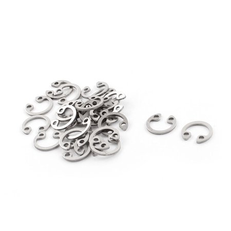 25pcs Hardware 304 Stainless Steel Internal Circlip Snap Ring 7mm Inner (Stainless Steel Snap Rings)