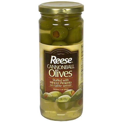 Reese Cannonball Olives, 6 oz (Pack of 6)