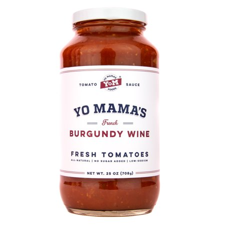 Gourmet Tomato - Yo Mama's Gourmet Burgundy Wine Pasta Sauce - No Sugar Added, Gluten Free, Preservative Free, Keto & Paleo Friendly, Crafted with Fresh Non-GMO Tomatoes!