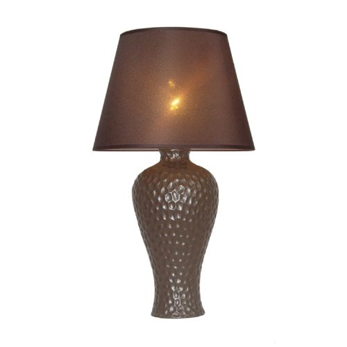 Simple Designs Texturized Stucco Curvy Ceramic Table Lamp by All the Rages Inc