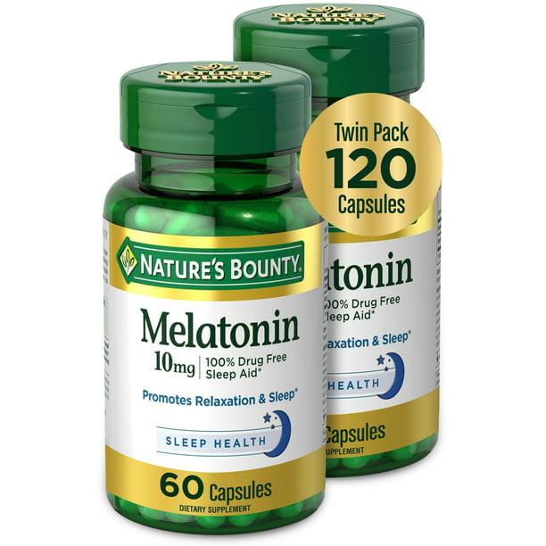 bounty nature sleep ct melatonin mg capsules aid