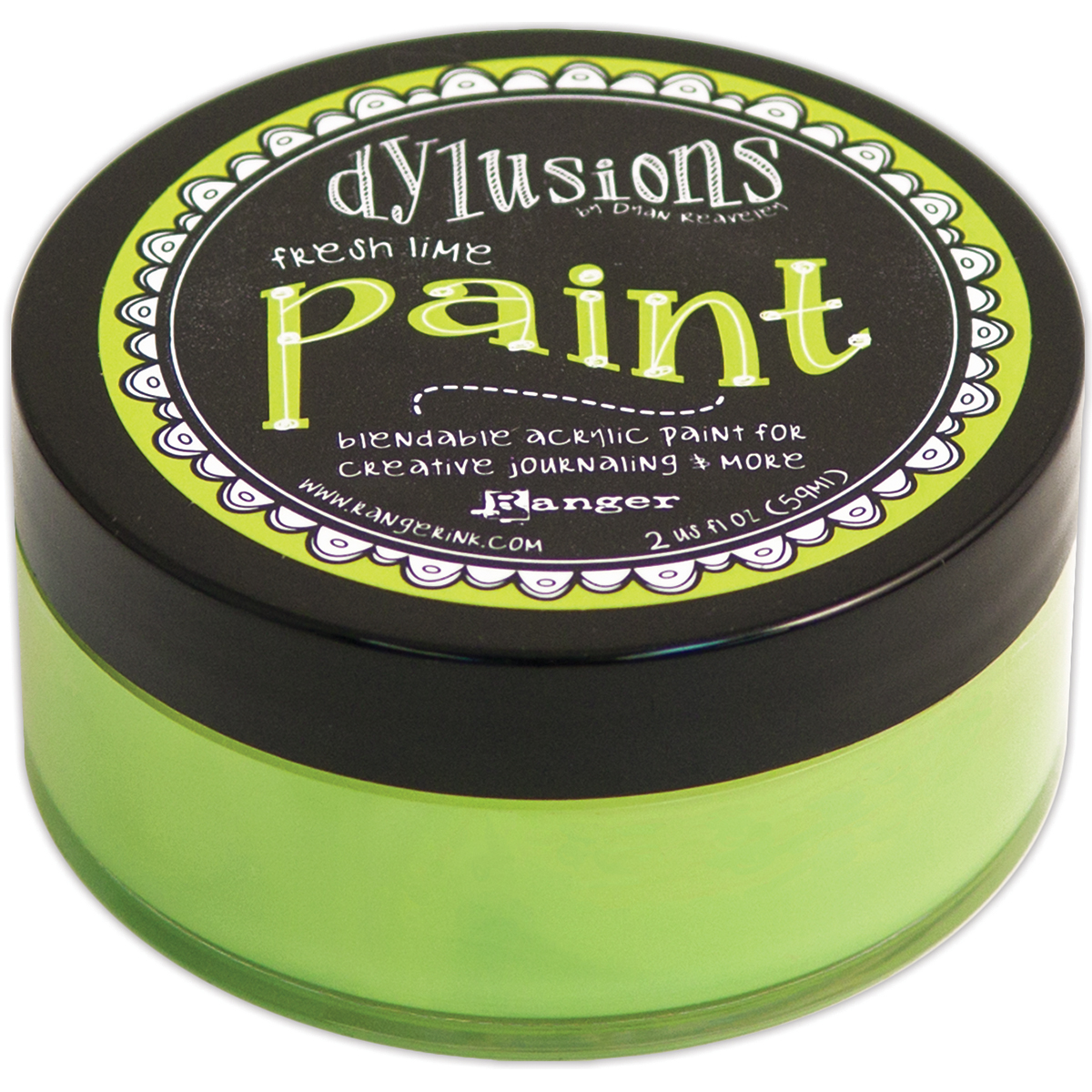Dyan Reaveley's Dylusions Paint 2oz-Fresh Lime