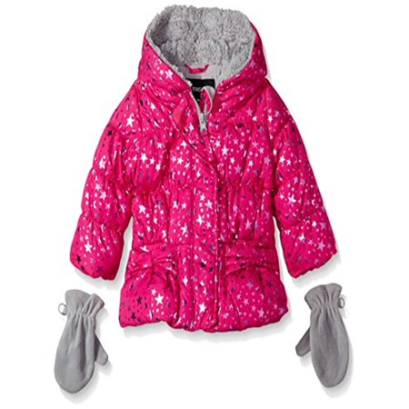 Rothschild Baby-Girls Star Foil Jacket, Ruby Light, 12 Months - Rothschild Wool Dress Coat