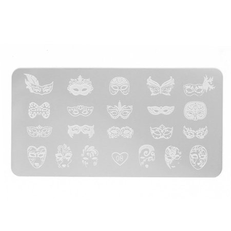 Fingernails Mask Design Stencil Template Painted Plate Gel Nails Tool 1 Sheet](Halloween Fingernails Designs)