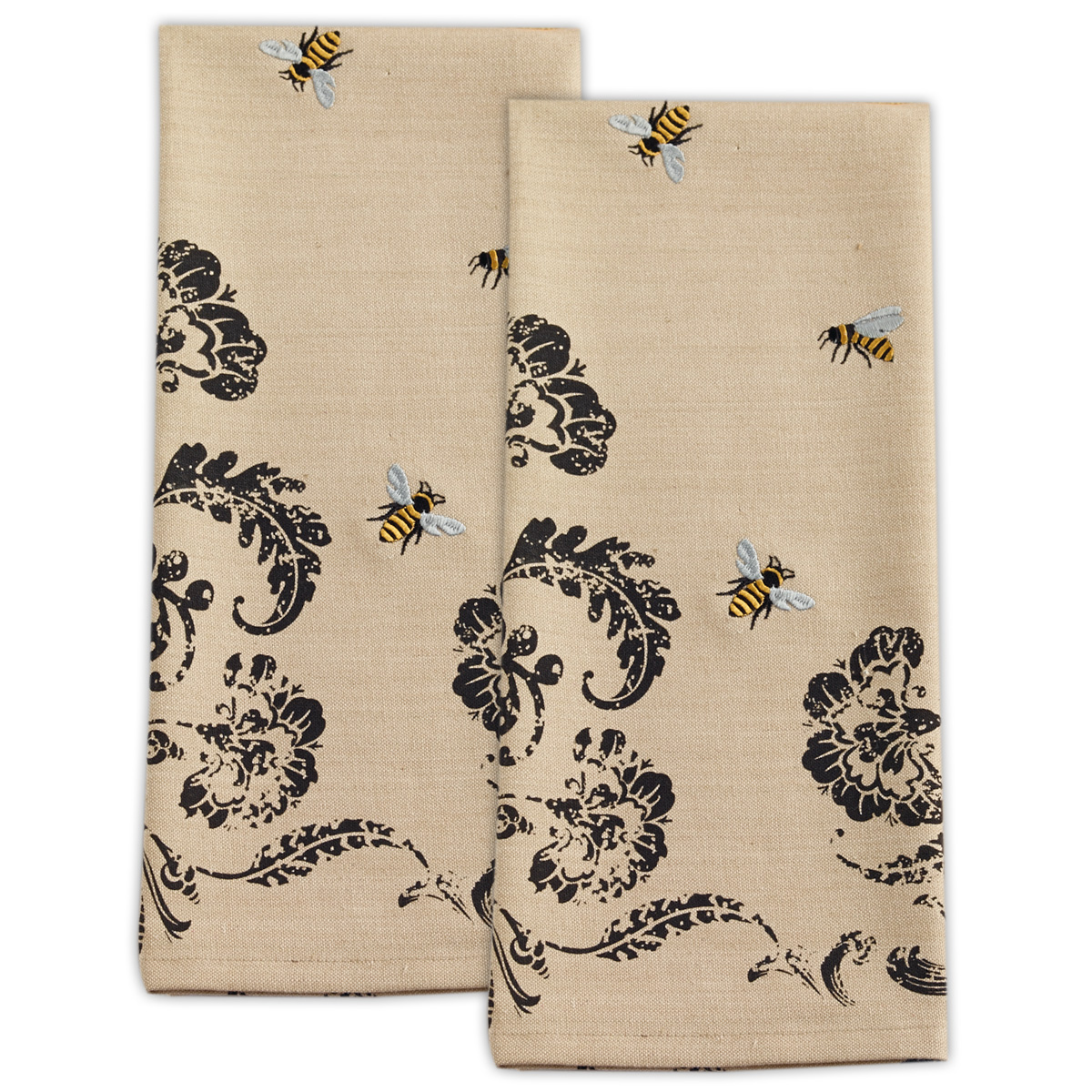 Supplier Generic Design Imports Busy Bees Embroidered Dishtowel Set Of