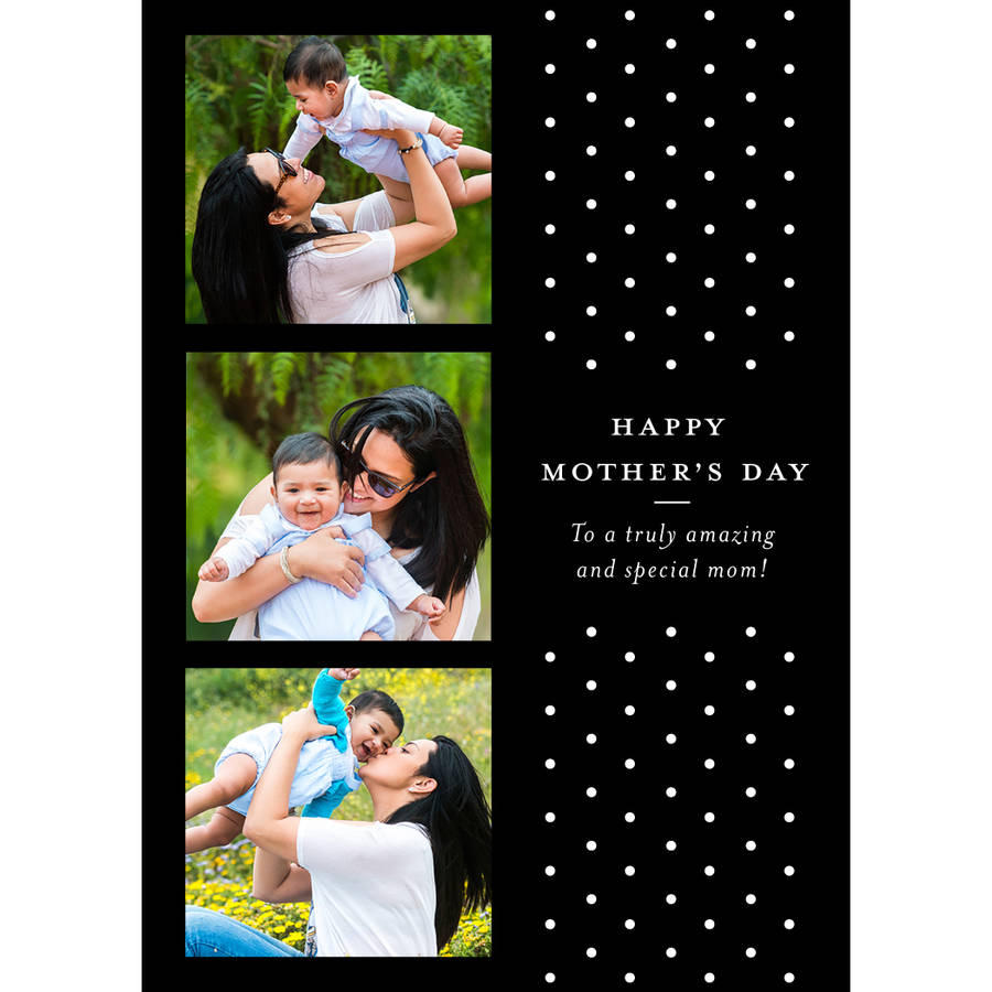 Polka Dots Mother's Day Greeting Card