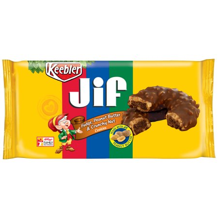 Keebler™ Jif® Fudge, Peanut Butter & Crunchy Nut Cookies 8 oz. Tray ...