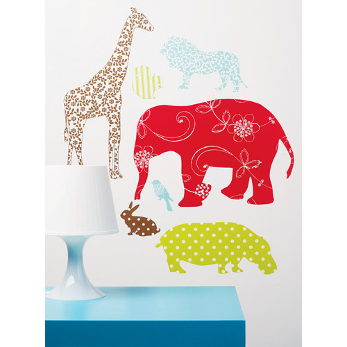 Wallies - Waverly Animals Peel and Stick Vinyl Wall Art