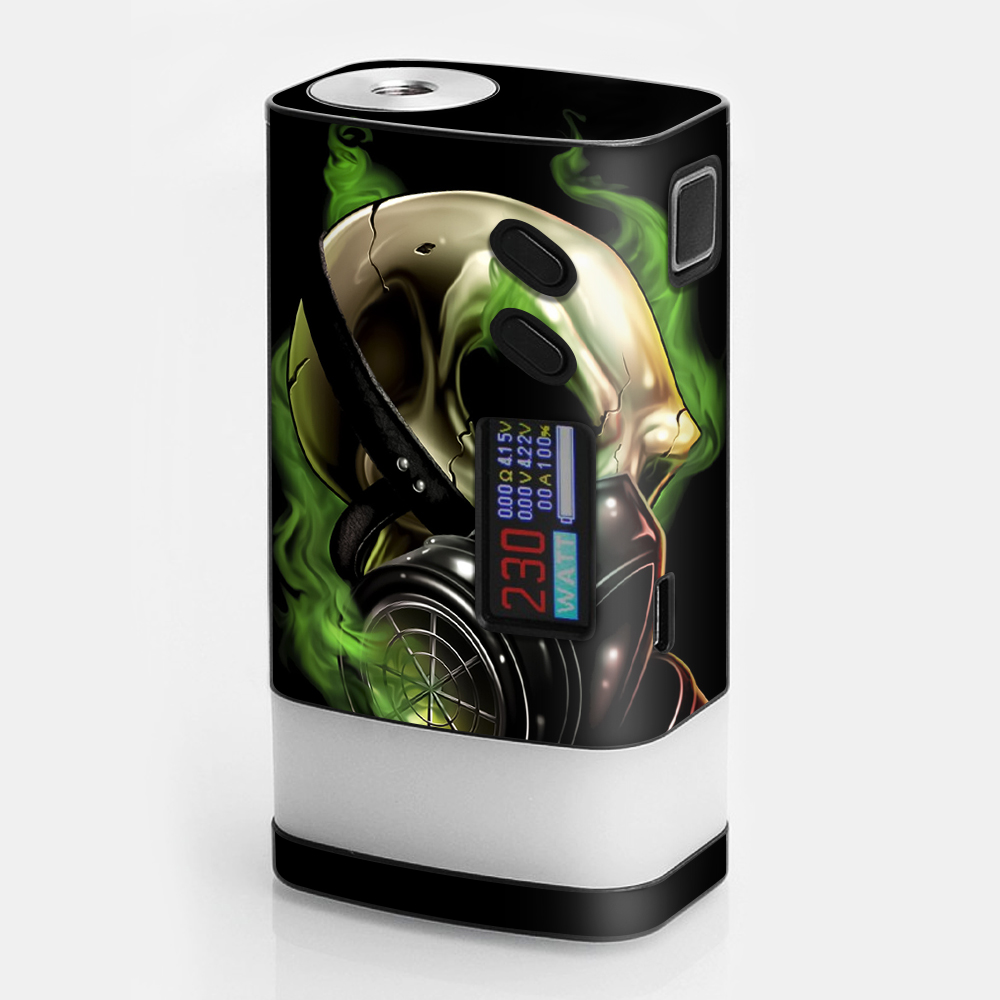 Skins Decals For Sigelei Fuchai Glo Vape   Gas Mask Skeleton by Itsaskin