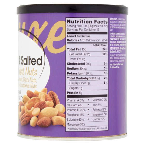 Nutrition News: mixed nuts nutrition facts