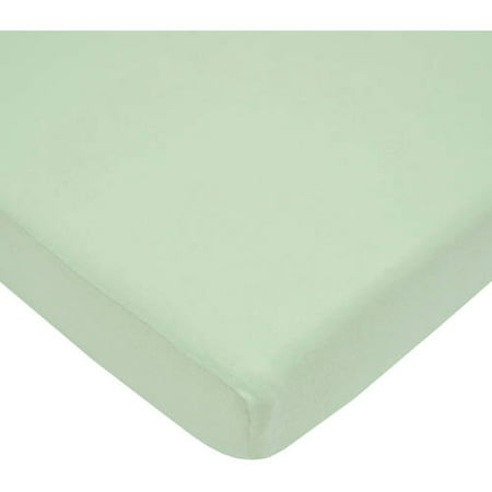 American Baby Company 100% Supreme Cotton Jersey Knit Fitted Portable/Mini-Crib Sheet, Celery