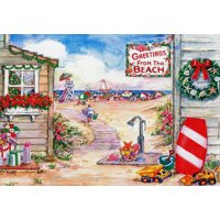 Red Farm Studios Greetings from the Beach Box of 18 Warm Weather Christmas Cards