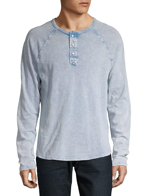 Long-Sleeve Henley Shirt