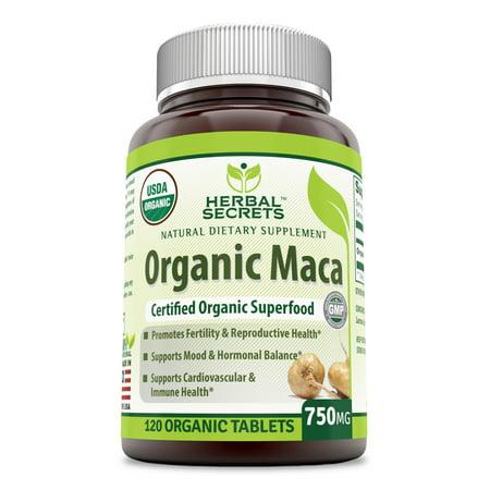 Herbal Secrets Organic Maca 750 mg 120 tablet (Herbal Chew Tobacco)