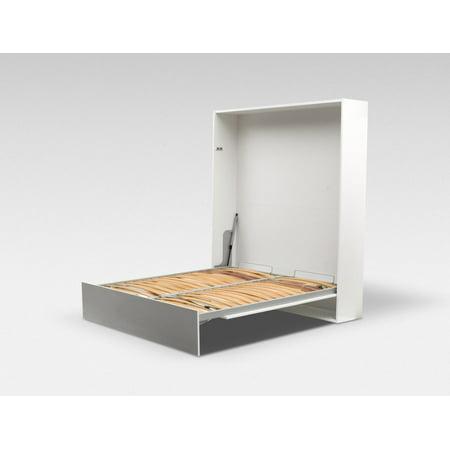 ALADINO European Queen Size Wall bed White-White Gloss ()