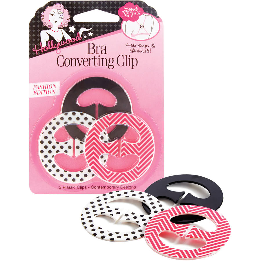 Hollywood Bra Converting Clips, 3 count